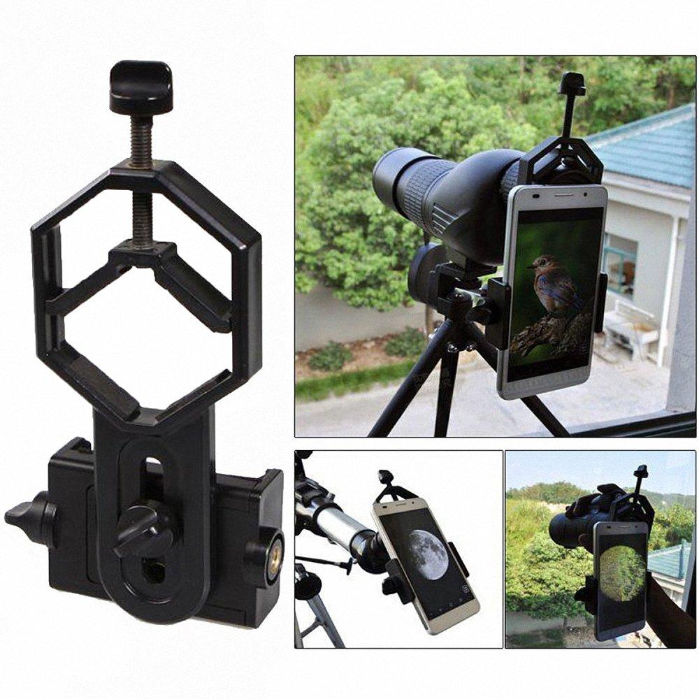 Meking Universal Phone Adapter Mount for Binocular Monocular Spotting Scope Telescope Microscope HengMing Black Phone Adapter