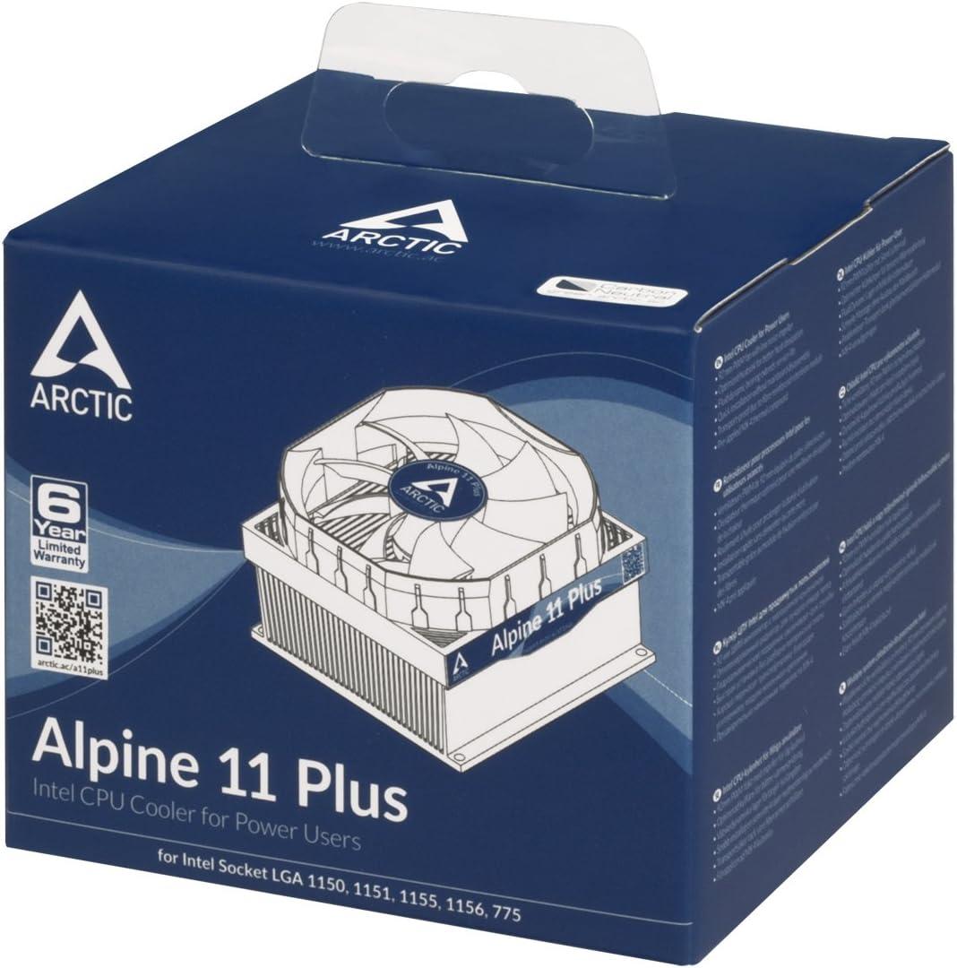 Supports Multiple Sockets ARCTIC Alpine 11 Plus CPU Cooler 92mm PWM Fan at 23dBA Intel