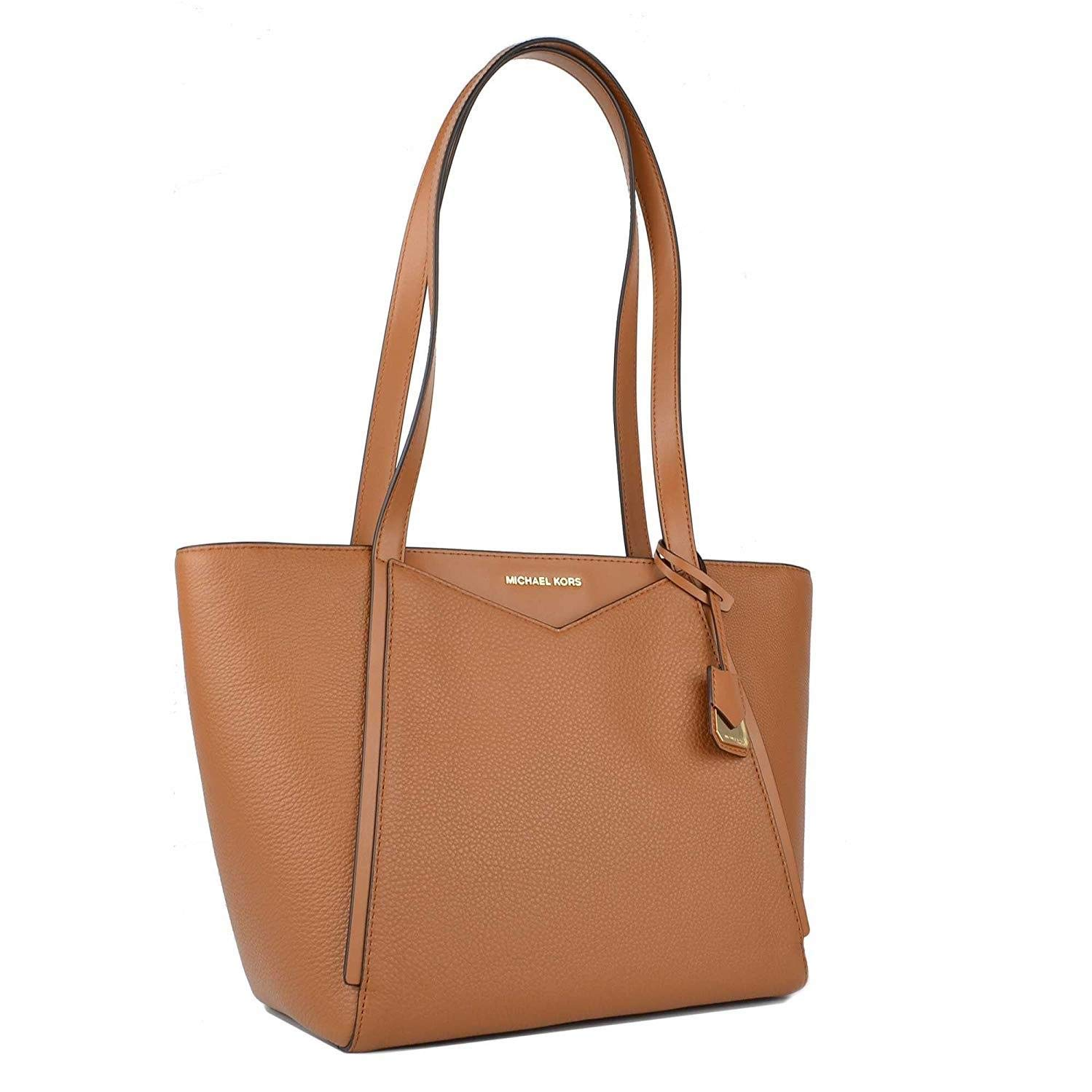a187ca584e1e MICHAEL by Michael Kors Whitney Small Acorn Leather Tote Acorn one size   Amazon.co.uk  Shoes   Bags