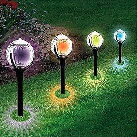 ZYW 2PC luces solares para el jardín LED lámpara de césped solar en el jardín luces luces solares creativas: Amazon.es: Hogar