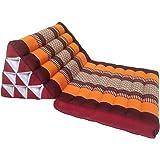 Colchón de meditación tradicional Thai Kapok, con cojín de respaldo, estilo oriental tradicional,