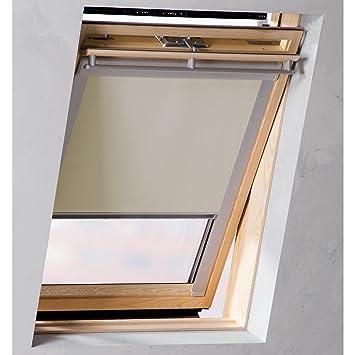 Toll Sol Royal SolReflect D12 Dachfensterrollo Verdunkelung + Thermo +  Hitzeschutz Für Velux C04 Alle Modelle Beige