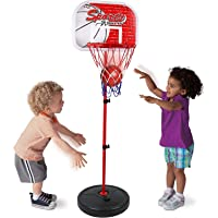 Outdoor Fun & Sports Activity Game Mini Indoor Adjustable Basketball Stand Basket Holder Hoop Goal Child Kids Boys Toys…