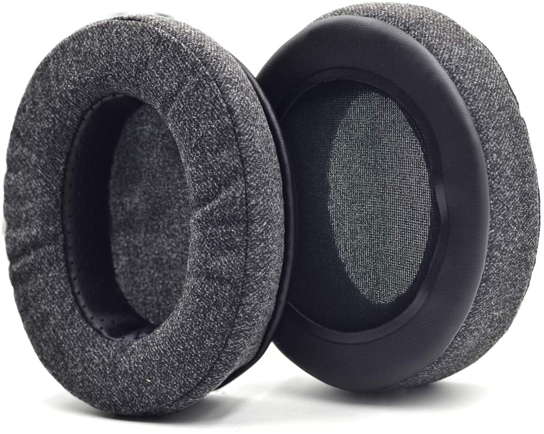 Defean Upgrade Ear Pads Replacement Gray Flannel Memory Foam Softer Foam for Audio-Technica M20 M20X M25 SX1 M30 M30X M30s M35 M40 M40X M40s M50 M50X M50s MSR7 PRO5 WS770 T500 Headphone