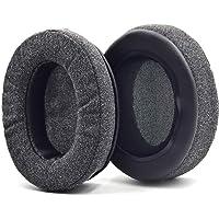 Defean Upgrade Ear Pads Gray Flannel Memory Foam Softer Foam for Audio-Technica M20 M20X M25 SX1 M30 M30X M30s M35 M40…