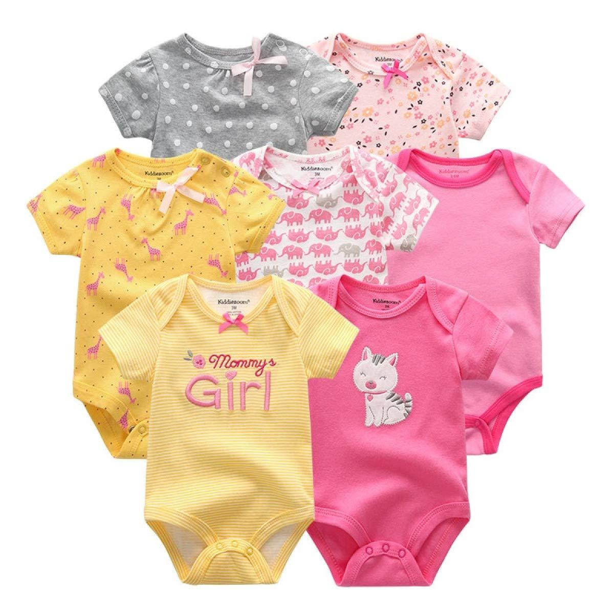 MELLOW SHOP 7PCS//lot Baby Boy Clothes Newborn Cotton Unicorn Bodysuits Baby Girl Clothes