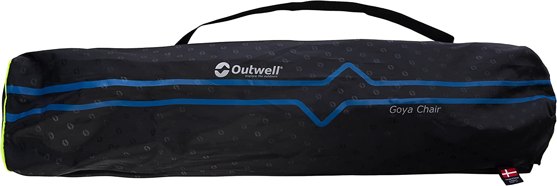 Silla para Acampada Talla 68 x 63 x 90 cm Outwell Campingstuhl Goya Color Negro