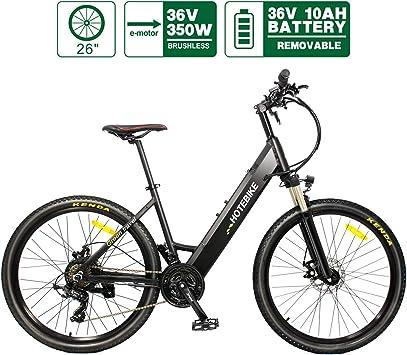HOTEBIKE bicicleta eléctrica de montaña eléctrica de 26 pulgadas ...