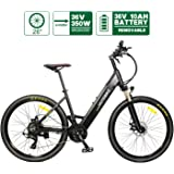 """HOTEBIKE 26"""" City Electric Bike 36V 350W Electric Mountain Bike with Removable Hidden 36V 10AH Lithium-ion Battery, Electric Bicycle 21 Speed Gear, Unique Design Commute Ebike for Men Women Adult"""