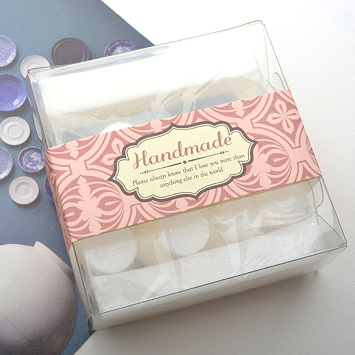 Amazon.com: Chawoorim Hand Made Labels Wrap Paper Tape Labels Soap ...