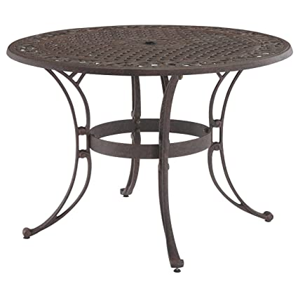 round outdoor table. Contemporary Table Home Styles 555430 Biscayne Round Outdoor Dining Table Black Finish 42 Intended Table L
