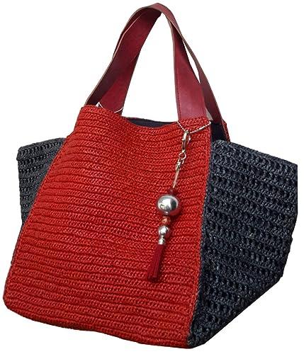 Modèle Mahma Rouge Sac Artisans Grand Raphia Cabas If7v6yYbg