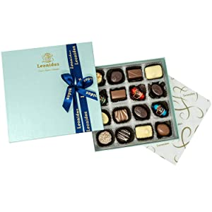 Leonidas Belgian Chocolate Assorted Gift Box – 16 pcs. (approx. 0.6 lbs.) – Belgium Assorted Chocolate Square Box Gourmet Gift