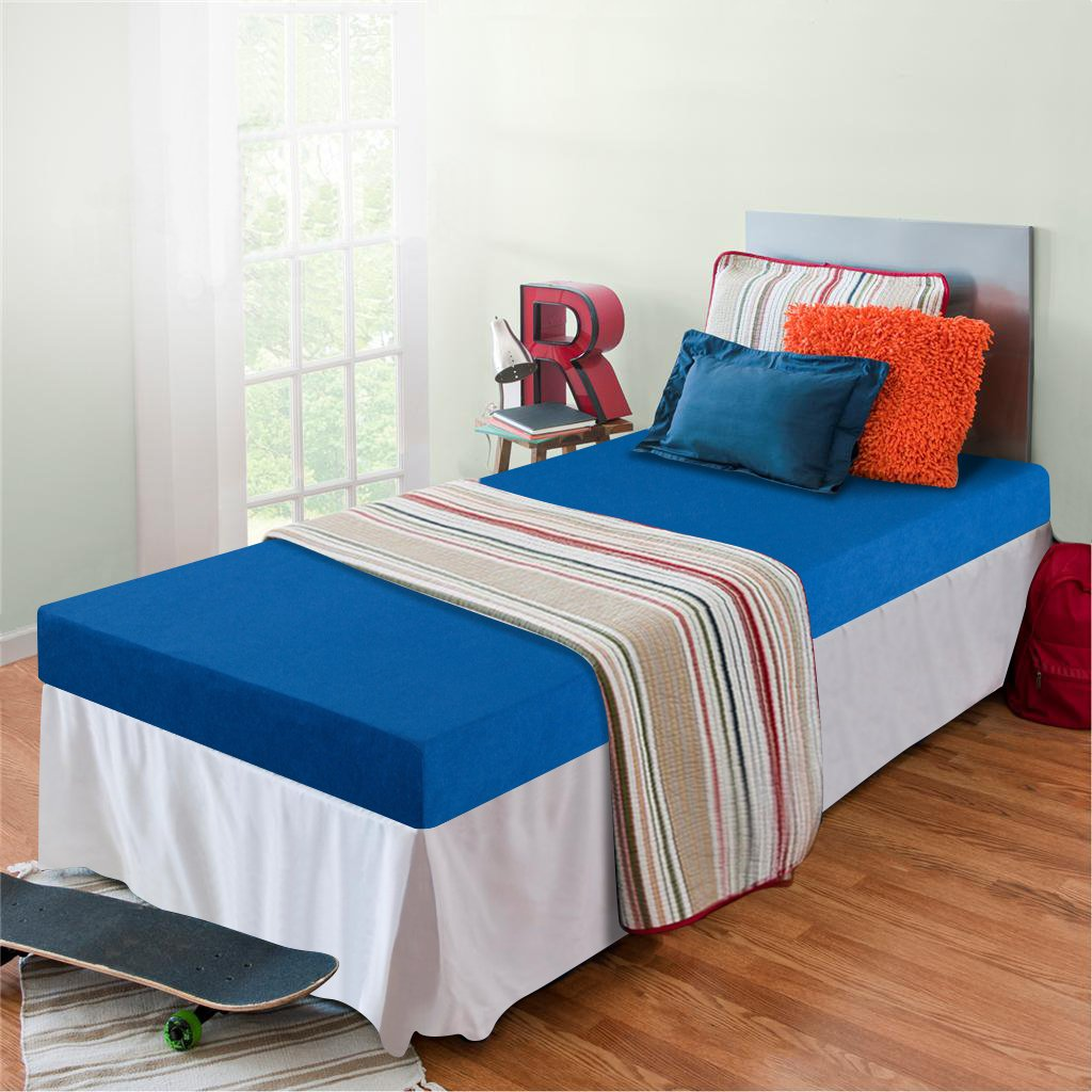 bluee Twin Zinus Memory Foam 5 Inch Bunk Bed   Trundle Bed   Day Bed   Mattress, Twin, bluee
