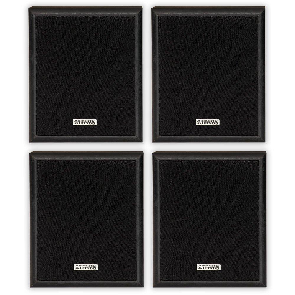 Acoustic Audio RW-SP3 Bookshelf Speakers 200 Watt 2 Way Home Theater Audio 2 Pair Pack RW-SP3-2PR by Acoustic Audio by Goldwood