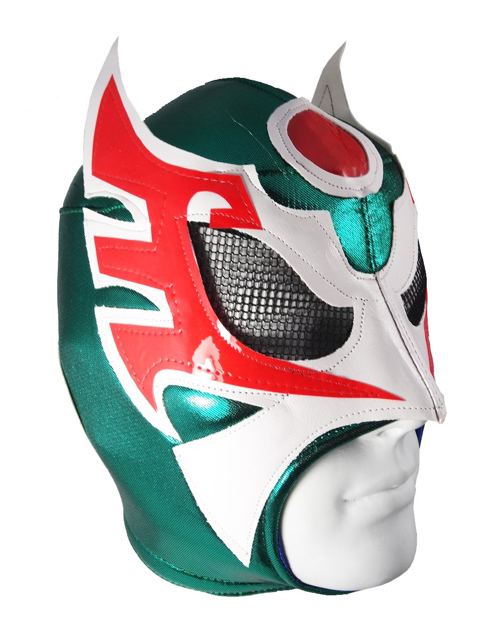 ULTIMO GUERRERO Adult Lucha Libre Wrestling Mask (pro-fit) - Green/White/Red by Mask Maniac