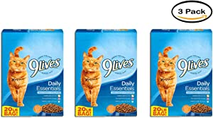 9Lives Pack of 3 Daily Essentials Dry Cat Food, 20-Pound