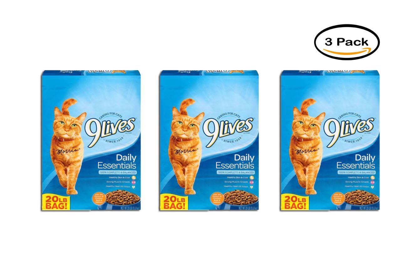 PACK OF 3 9Lives Daily Essentials Dry Cat Food, 20-Pound