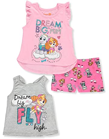ad29d5e67 Paw Patrol Little Girls' Three-Piece Short Set