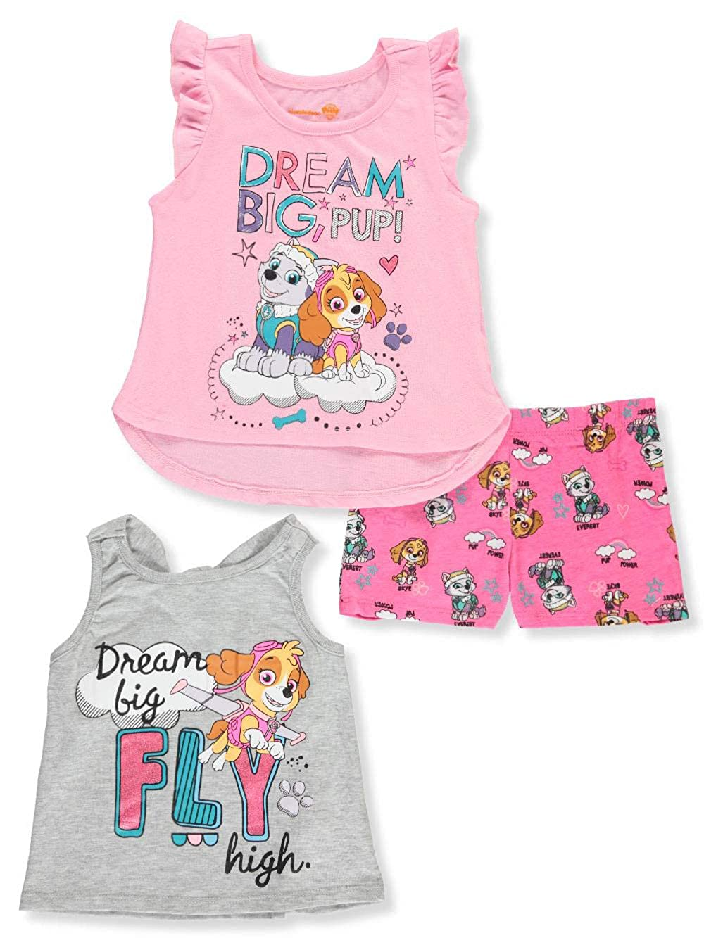 Paw Patrol Little Girls Three-Piece Short Set