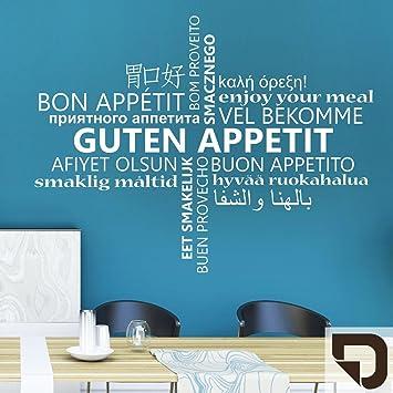 DESIGNSCAPE® Wandtattoo Guten Appetit Multikulturell ...