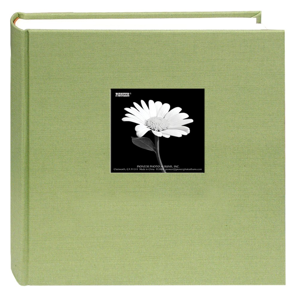 Fabric Frame Cover Photo Album 200 Pockets Hold 5x7 Photos, Sage Green