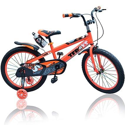 Bicicleta de lujo para niños y niñas, color rosa y naranja ...