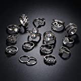 16 PCS Stackable Ring Vintage Style Mid Above Stack Knuckle Ring