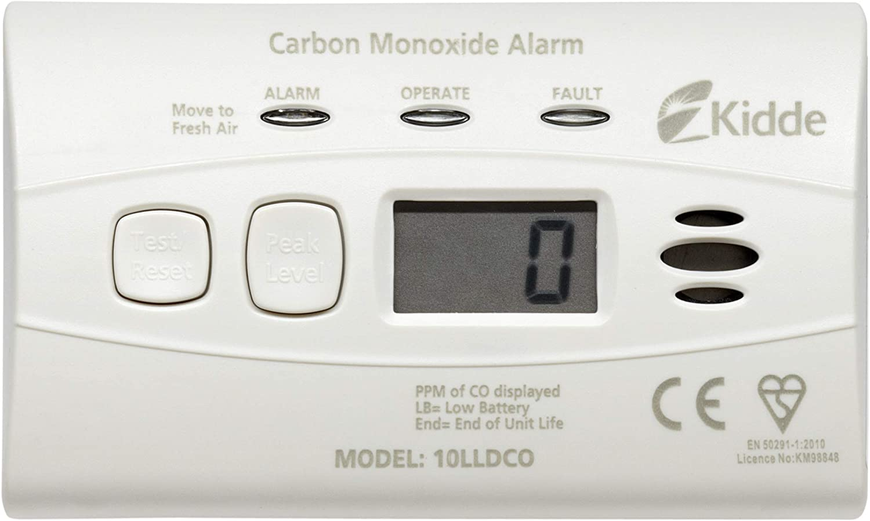 Kidde 10LLDCO - Alarma detectora de niveles de monóxido de carbono (con batería cerrada)