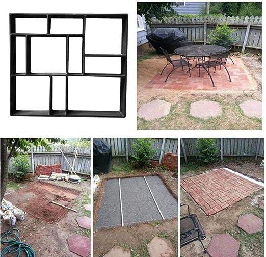 Oulensy DIY pavimentación Cemento Camino de baldosas de Piedra Molde de hormigón trayectoria del jardín del Molde del Fabricante: Amazon.es: Hogar