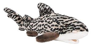 "Wildlife Tree 12"" Stuffed Leopard Shark Plush Floppy Animal Kingdom Collection"