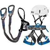 Klettersteigset LACD Pro Evo Helm Protector /& Salewa Gurt Via Ferrata Evo
