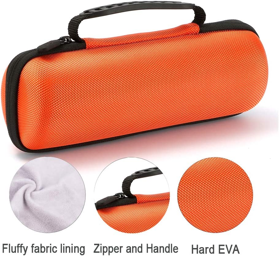 JBL Flip 3 Wireless Bluetooth Portable Speaker Fits USB Cable and Wall Charger Red Hard Case Travel Carrying Storage Bag for JBL Flip 4