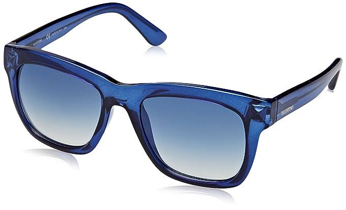 Valentino Mujer Eye Gafas de sol, Azul (Blu), 52: Amazon.es ...