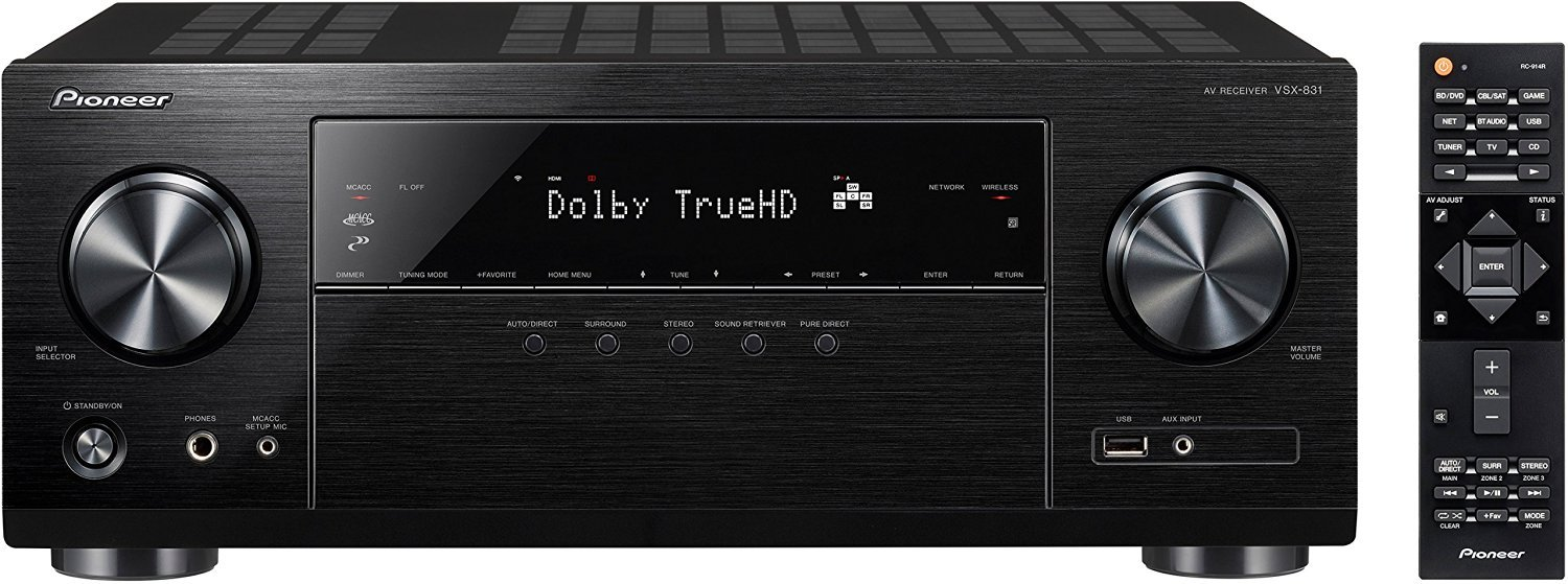 Pioneer VSX-831 5.2-Channel AV Receiver with Built-In Bluetooth and Wi-Fi (Certified Refurbished) by Pioneer Refurb