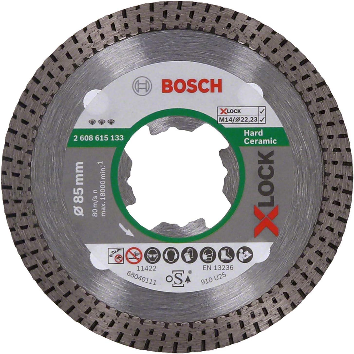 Bosch Professional Best - Disco de corte de diamante (para cerámica dura, X-LOCK, Ø85 mm, diámetro del orificio: 22,23 mm)