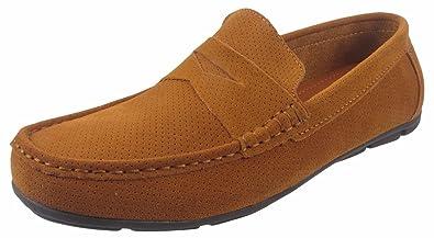 Stylo Mens Leather Suede Mocassin Quality Slip On Designer Loafer Driving  Shoe Size (UK 9