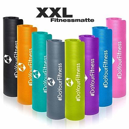 #DoYourFitness XXL Esterilla para Fitness »Ashanti« / Extra Gruesa y Suave, Pilates, Gimnasia y Yoga/Medidas: 190 x 100 x 1,0cm / Disponible en ...