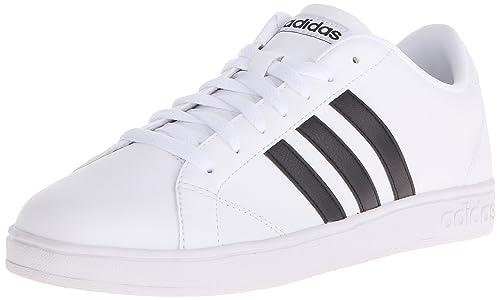online retailer 7f4a4 8cc02 adidas NEO Women s Baseline W Casual Sneaker,White Black White,6.5 M