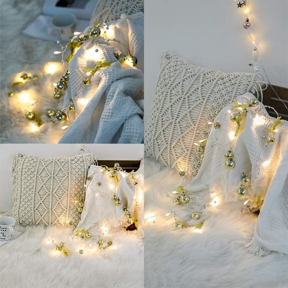 No deslumbrante Luz de Navidad, 2m 20leds Ramas Pinecone Red perlas Estrellas Led Luz de Navidad, Día de Navidad hechas a mano de las luces de la batería de San Valentín romántico al aire libre for in Orange