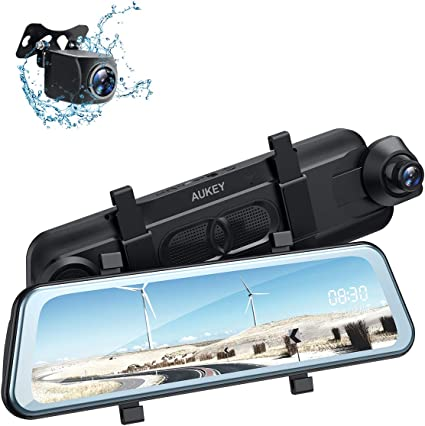G-Sensor WDR and Night Vision Rearview Mirror Dash Cam Dual Sony Starvis 1080P Front /& Backup Camera 9.66 IPS Touch Screen Mirror Camera