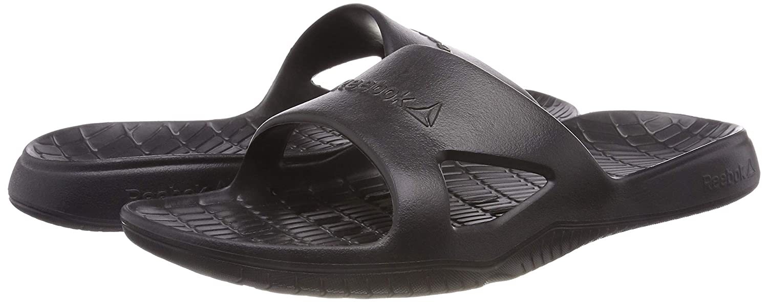 9d53235bb Reebok Men s Kobo H2out Flip Flops Black (Black) 13 UK  Buy Online at Low  Prices in India - Amazon.in