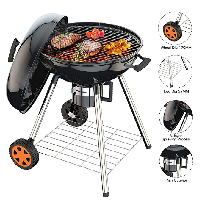 TACKLIFE Charcoal Grill – The Biggest Portable Grill
