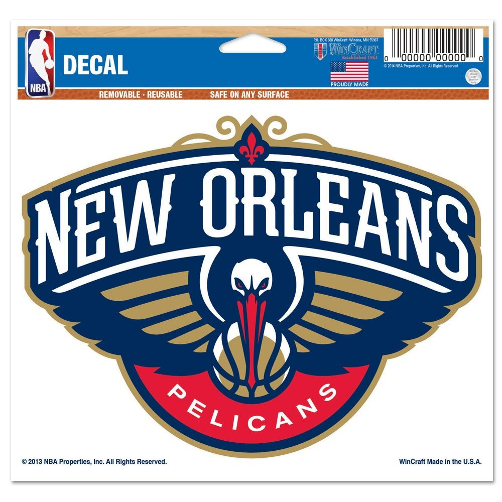 NBA New Orleans Pelicans 22043013 Multi-Use Colored Decal, 5'' x 6''