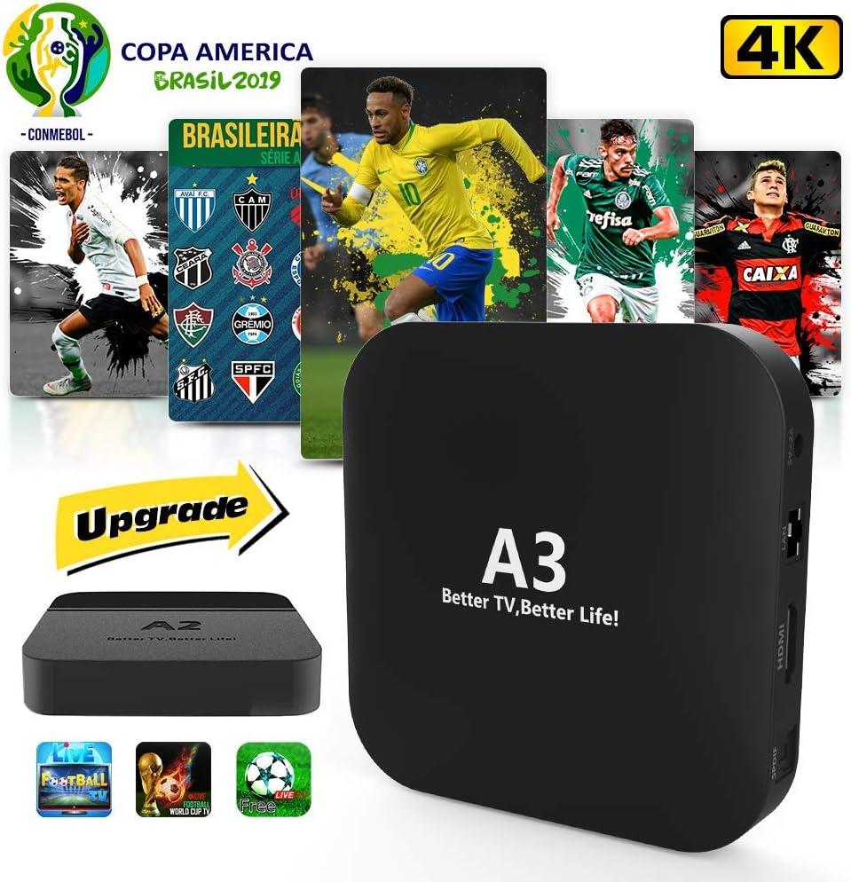 2019 A Mais Nova Caixinha Brasileiro Com Mais De 200+ Popular Vivo 4K Canais Brasileiro IPTV Brasil: Amazon.es: Electrónica