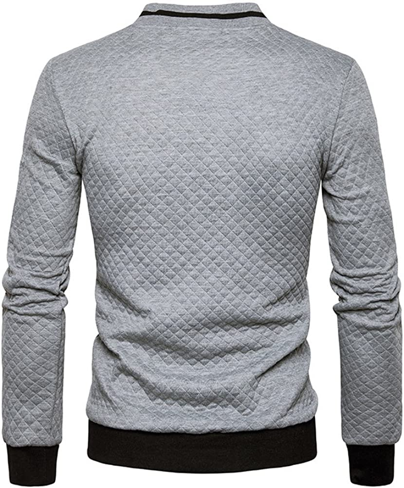 Veravant Herren Bomberjacke Strick Mantel Sweatshirt Mantel