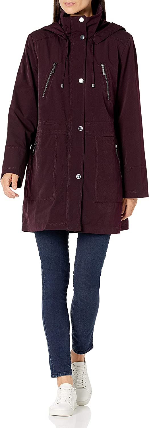 Fleet Financial sales sale Popular shop is the lowest price challenge Street Ltd. Women's Faux Silk Warme Anorak with Button Out