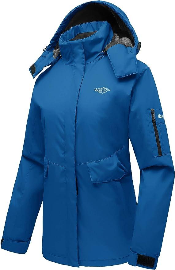 Wantdo Abrigo de Snowboard para Mujer Chaqueta de Esquí de Montaña Chaqueta al Aire Libre con Vellón Cazadora con Capucha de Invierno Chaqueta de Nieve Cálida Mujeres: Amazon.es: Ropa y accesorios