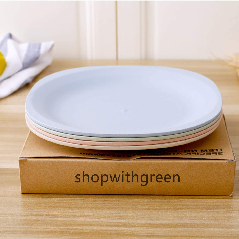 Juego de platos de postre degradables Shopwithgreen tama/ño perfecto para ensalada mantequilla aperitivos ligero e irrompible 4 unidades de 7,3 pulgadas apto para microondas y lavavajillas
