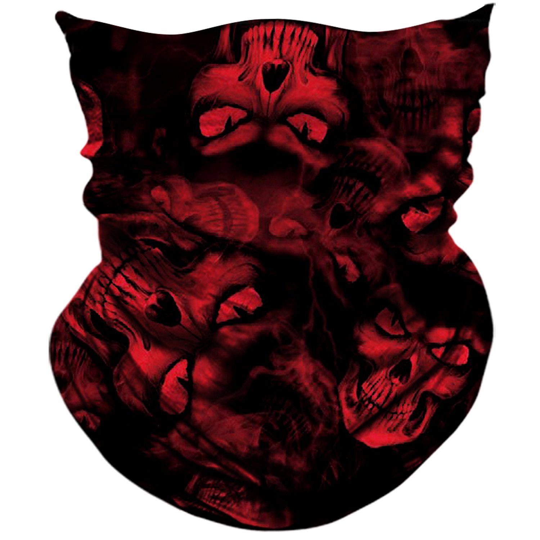 AXBXCX Skull Skeleton Outdoor Ghost Face Mask Bandana Festivals Raves Halloween
